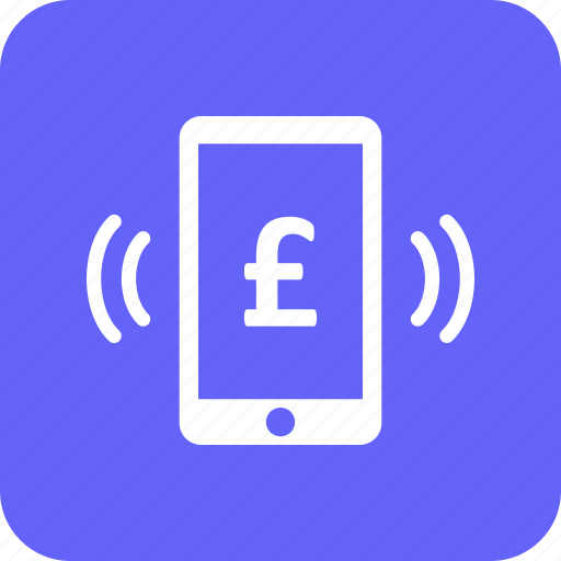 currency, mobile, pound icon