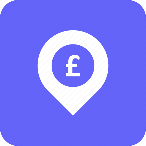 address, bank, currency, location, pound icon