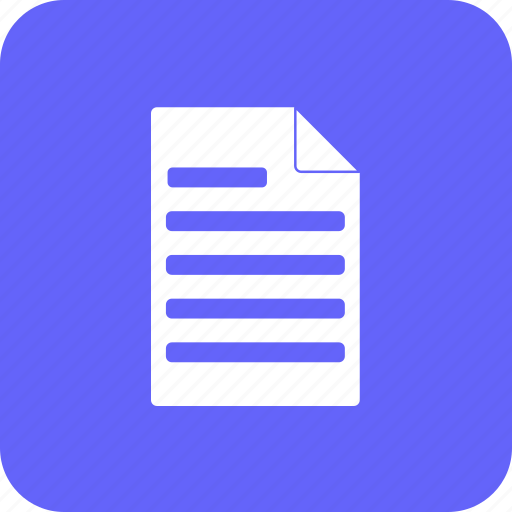 accounting, document, file, finance, format, invoice, report icon