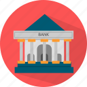 bank, banking, building, finance, financial icon