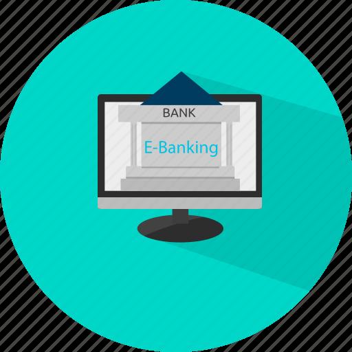 banking, ebanking, etrade, finance, online icon
