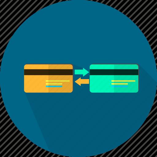 arrow, banking, data, finance, money, storage, transfer icon