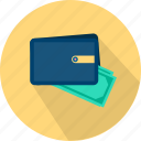 banking, cash, finance, money, payment, purse, wallet icon