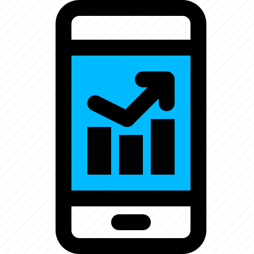 analysis, analytics, data, mobile icon
