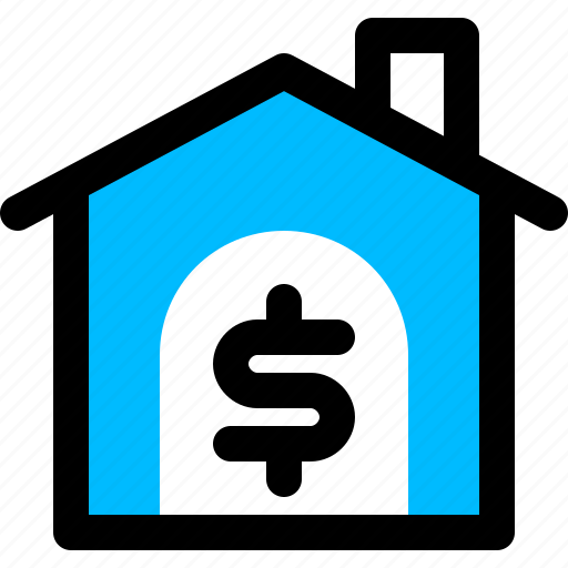 estate, loan, mortgage, property, real icon