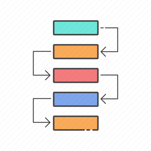 flow chart, hierarchy, planning, project, strategy, work flow icon