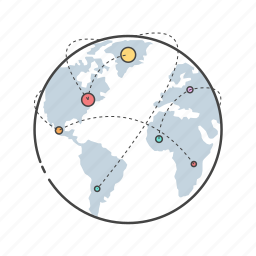 collaboration, communication, connection, globe, network, world, www icon