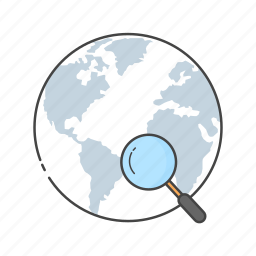 discover, global, globe, magnifier, search, web, www icon