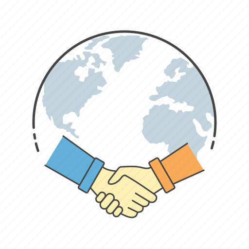 agreement, connection, contract, global, hands, shake hand icon