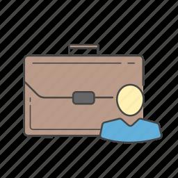 briefcase, business, case, man, portfolio, suitcase icon