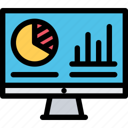 analytics, bank, business, currency, finance, money icon