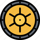 bank, bank vault, business, currency, finance, money icon