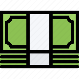 bank, banknotes, business, currency, finance, money icon
