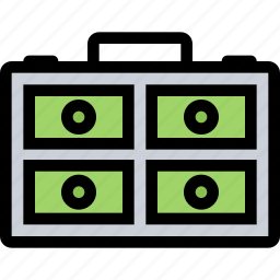 bank, business, case, currency, finance, money icon