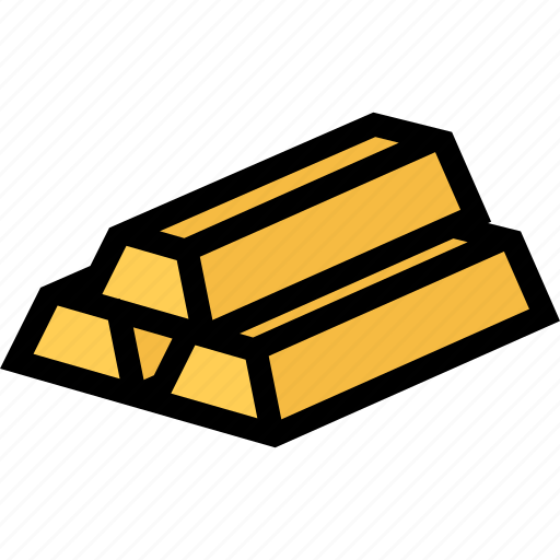 bank, business, currency, finance, gold bullion, money icon