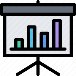 bank, business, currency, finance, money, presentation icon
