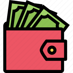 bank, business, currency, finance, money, purse icon
