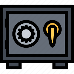 bank, business, currency, finance, money, safe icon