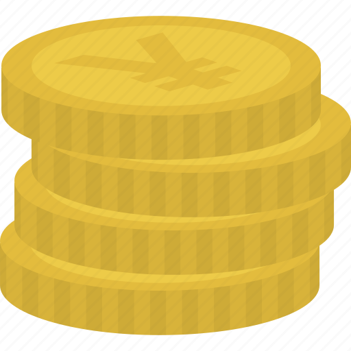 cash, coins, currency, yen icon