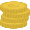 cash, cents, coins, currency icon