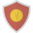 money, safe, security, shield, yen icon