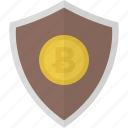 money, shield, bitcoin, safe, security