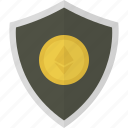 money, shield, ether, ethereum, safe, security