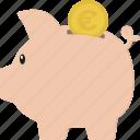 budget, euro, money, piggy bank, piggybank, savings icon