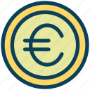 finance, currency, money, euro, coin