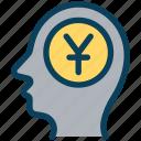 finance, currency, money, yen, mindset, think