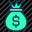 finance, currency, money, dollar, bag