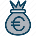 finance, currency, money, euro, bag