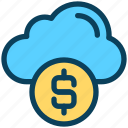 finance, currency, money, dollar, cloud, coin