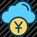 finance, currency, money, yen, cloud, coin