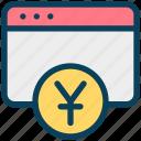 finance, currency, money, yen, website, online banking