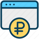 finance, currency, money, ruble, website, online banking
