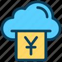 finance, currency, money, yen, cloud, bill
