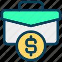 finance, currency, money, dollar, bag, briefcase