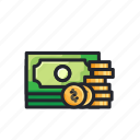 coin, credit, dollar, finance, money icon