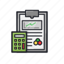 calculator, finance, note, report, statistic icon