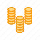 bank, coin, credit, finance, financial, money icon