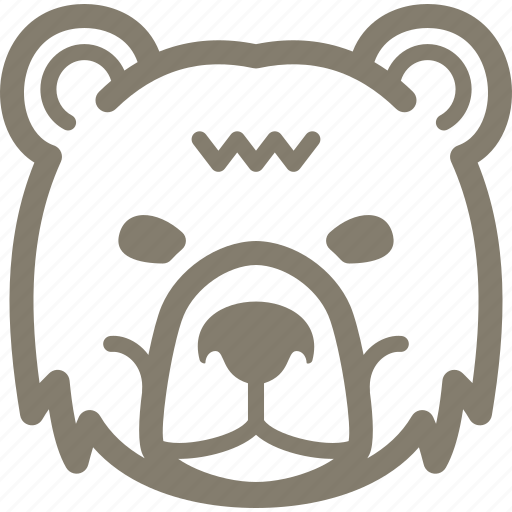 banking, bear, finance, stock market icon