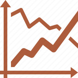 analytics, business growth, graph, stock market icon