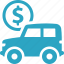 car, vehicle, finance, auto loan icon