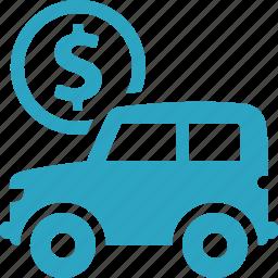 auto loan, car, finance, vehicle icon