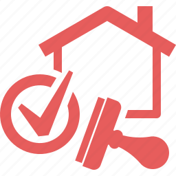 approved, check mark, home mortgage, loan mortgage, stamp icon