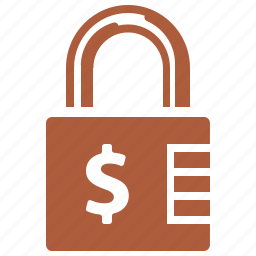 finance, loan, lock, protection, security icon