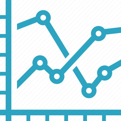 analytics, business, financial graph, sales growth, stock market icon