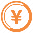 coin, finance, money, yen icon