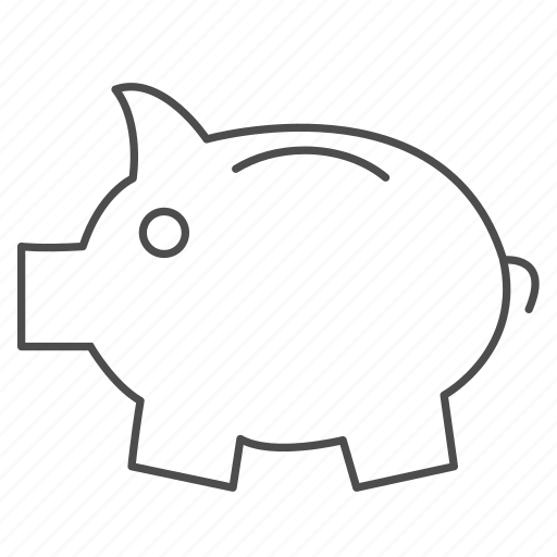 banking, coins, finance, guardar, money, payment, pig, save icon